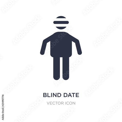 Photo blind date icon on white background