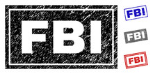 Grunge FBI Rectangle Stamp Sea...