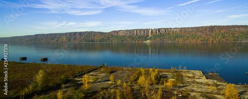 Fotografie, Tablou  Hudson River Palisades Cliff Aerial view