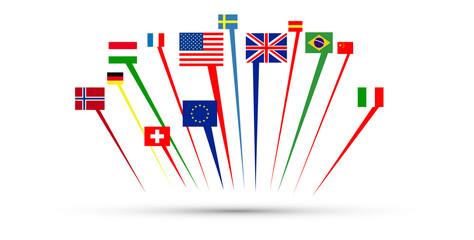 mondo, bandiere, europa, li...