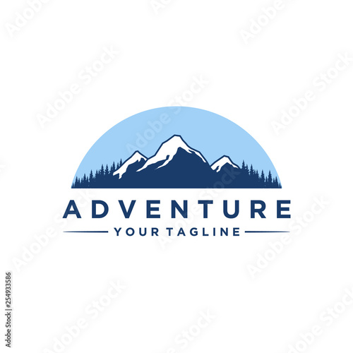 Valokuva mountain and adventures logo designs