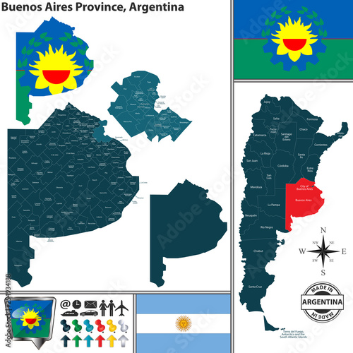 Map of Buenos Aires Province, Argentina