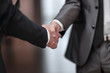reliable handshake business people. concept of partnership