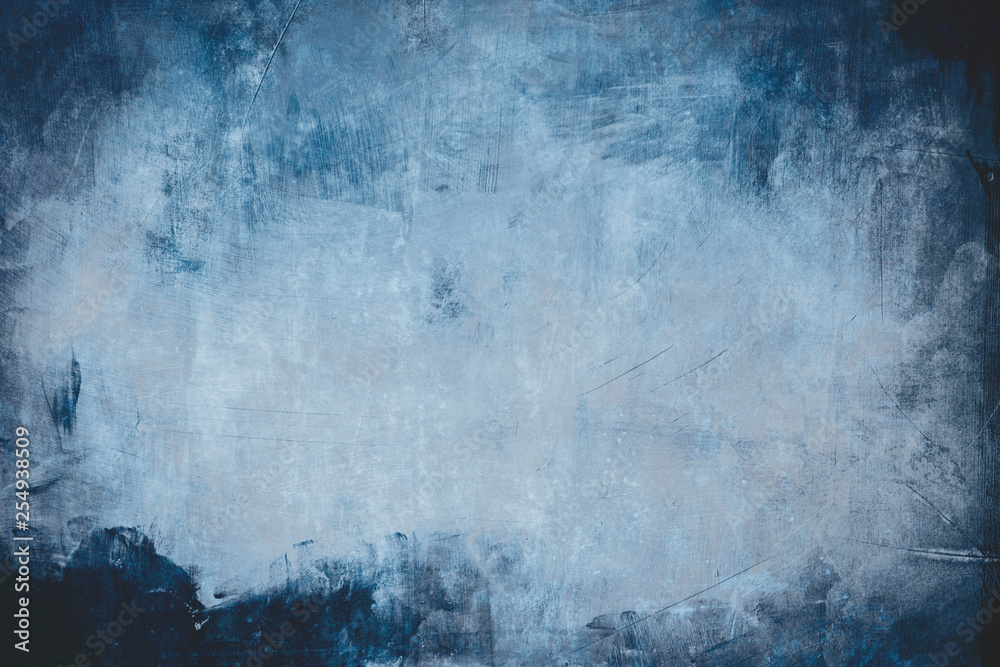 blue grungy wall background or texture