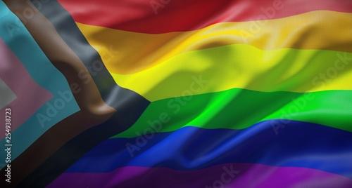 Fotografia The rainbow flag New LGTB