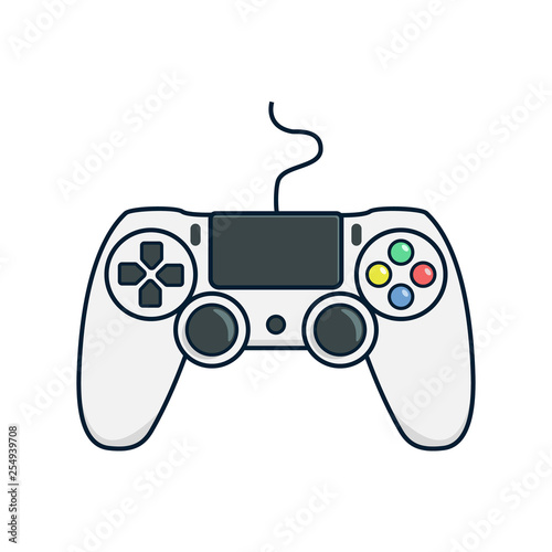 Photographie Video game controller icon.Joystick, game play icon