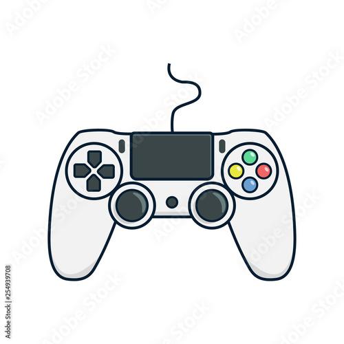 Cuadros en Lienzo Video game controller icon.Joystick, game play icon