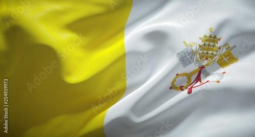 Official flag of the Vatican City State. Tapéta, Fotótapéta