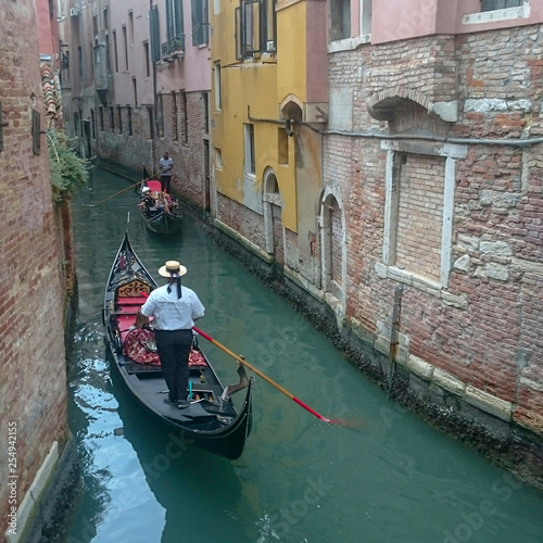 Türaufkleber Gondeln Beautiful Venice city of love