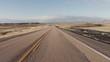 Driving USA: The open road – spectacular pov car shot speeding across desert