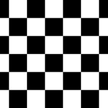 Black And White Checkered Seam...