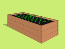Wooden Raised Garden Bed With ...