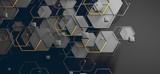 Datos en la nube y red.Concepto de ciencia y tecnología.Malla y formas geométricas