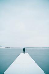 Człowiek na pomoście - zima