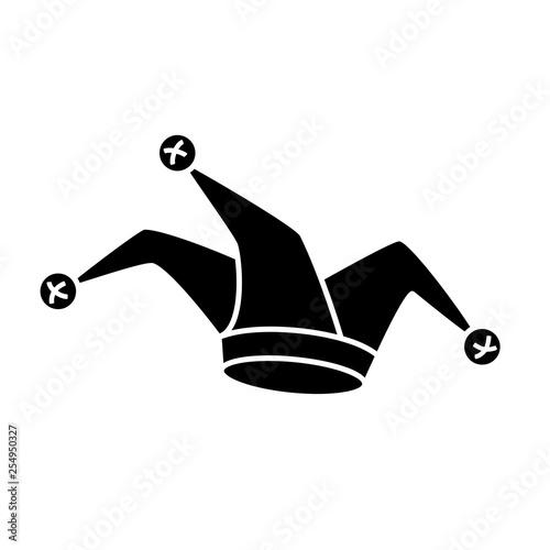 Cuadros en Lienzo Jester hat silhouette icon