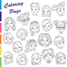 Coloring Page. Collection Of Y...