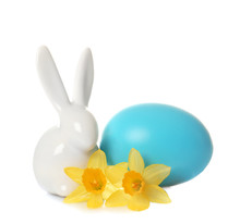Cute Ceramic Easter Bunny With...