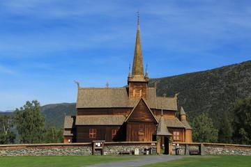 Fototapeta na wymiar Norway, stavkirke Lom