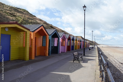 Beach Huts at Saltburn