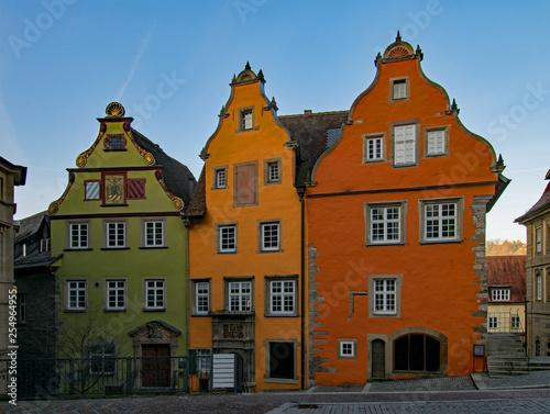 Photo Stands In der Altstadt von Schwäbisch Hall in Baden-Württemberg, Deutschland