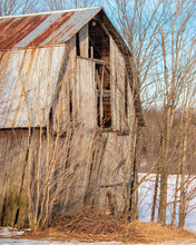 Abandoned Decaying Barn With R...