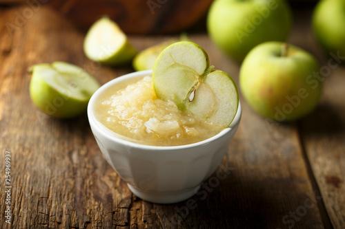 Photo Healthy apple puree
