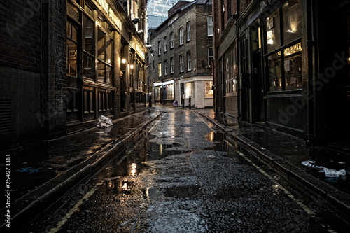 Canvas Print Street at Night