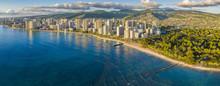 Honolulu Skyline With Ocean Front