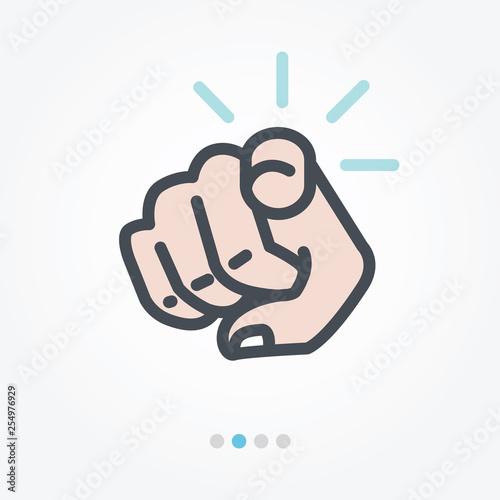 Fotografie, Obraz Point of you vector icon