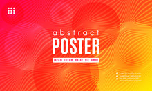 Abstract Wave Poster With Colo...
