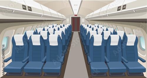 Photo Airplane interior design