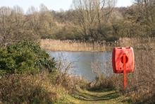 A Red Life Saver Flotation Aid...