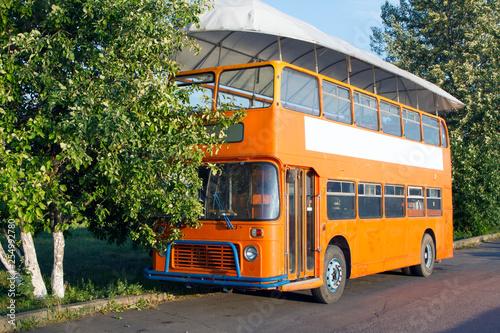 Foto Old double decker bus