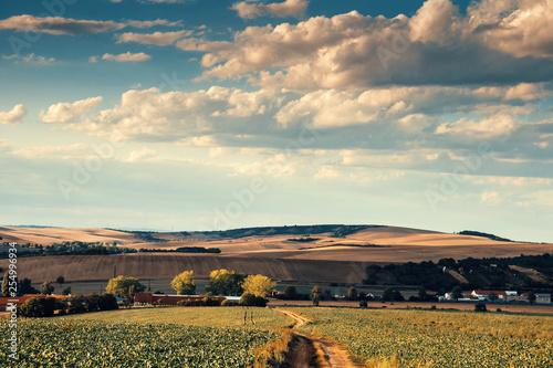 Photo  Beautiful Evening Landscape in Czech Republic, Bohemia, Europe