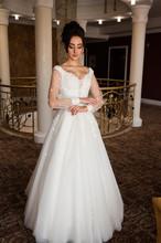 Beautiful Bride In Chic Dress....