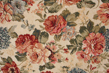 Floral Pattern Fabric As Backg...