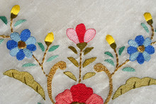 Embroidery Pattern As Background