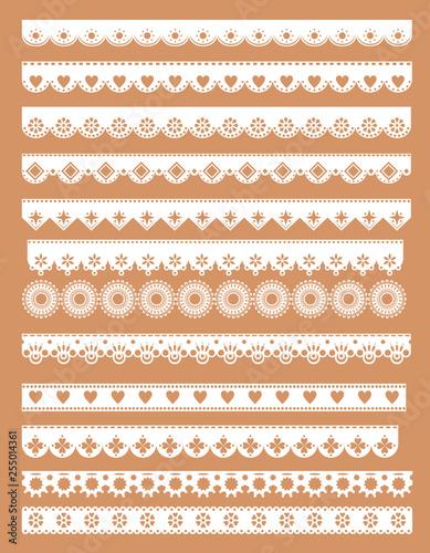 Fotografia Mega set  of scallop lace borders