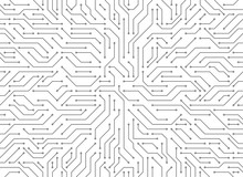 Circuit Board Background. Vect...