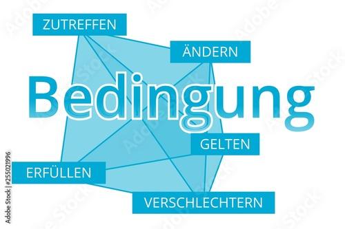 Fotografía  Bedingung - Begriffe verbinden, Farbe blau