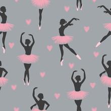 Seamless Dancing Ballerinas Pa...