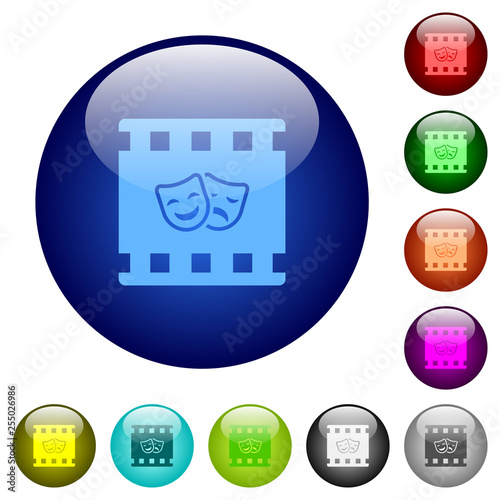 Foto  Theatrical movie color glass buttons