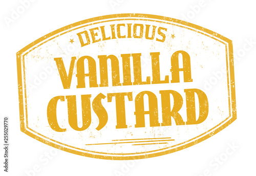 Tableau sur Toile Vanilla custard sign or stamp