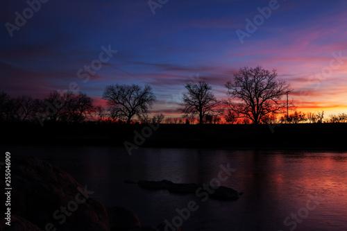 Sunset on Llano River