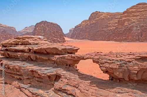 Rocky Arch in a Remote Desert