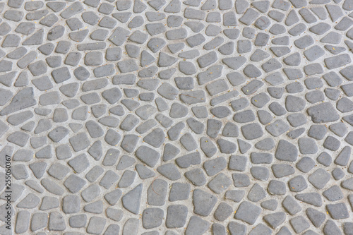 The pebble stone floors and wall, background textures Canvas Print