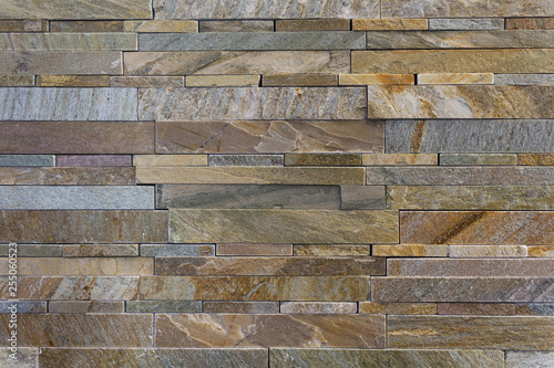 Colorful Stone Tile Wall