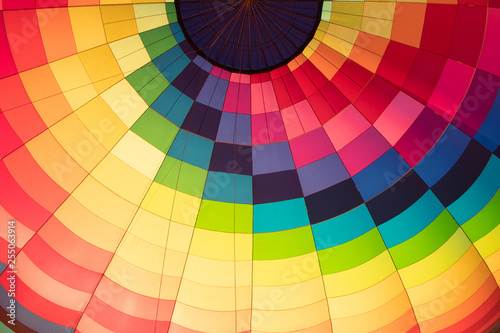 Fotografie, Obraz  balloon view from inside close-up multicolored material
