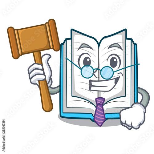 Fényképezés  Judge opened book in the cartoon box