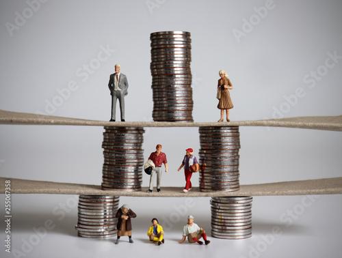 Fotografie, Obraz The concept of pyramid of social class